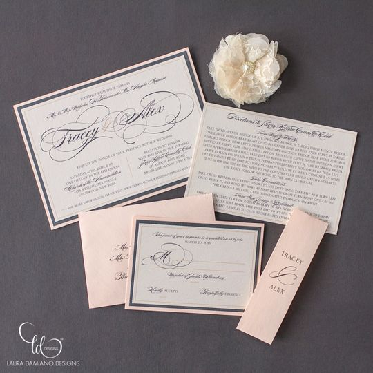 Soft pink invitation