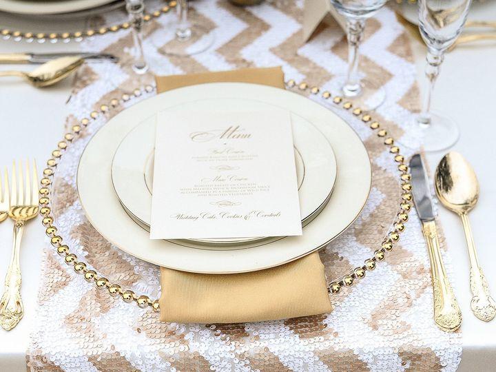 Tmx 1424405641205 Lddgoldmenu Briarcliff Manor, New York wedding invitation