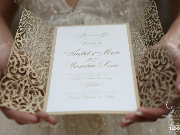 Tmx 1459266193152 Lddangeloinvitation Briarcliff Manor, New York wedding invitation