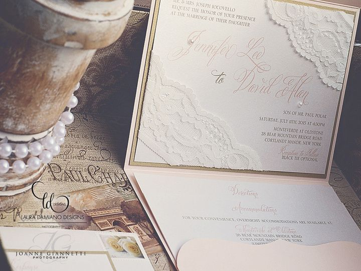 Tmx 1459266218513 Lddiocovelloinvitation Briarcliff Manor, New York wedding invitation