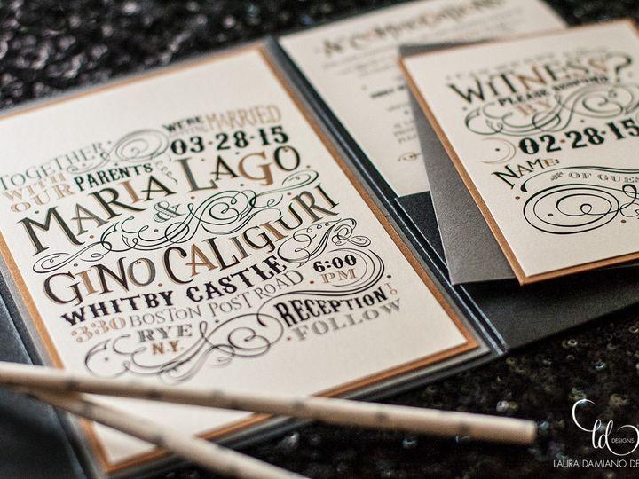 Tmx 1459266243341 Lddlagoinvitation Briarcliff Manor, New York wedding invitation
