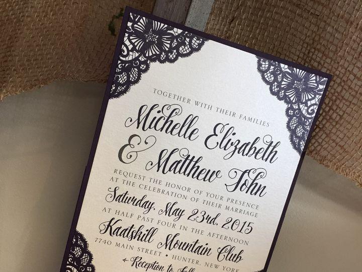 Tmx 1459266267840 Lddmichellematthewinvitation Briarcliff Manor, New York wedding invitation