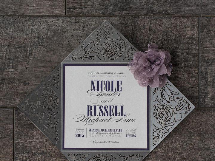 Tmx 1459266281969 Lddsantosinvitation Briarcliff Manor, New York wedding invitation
