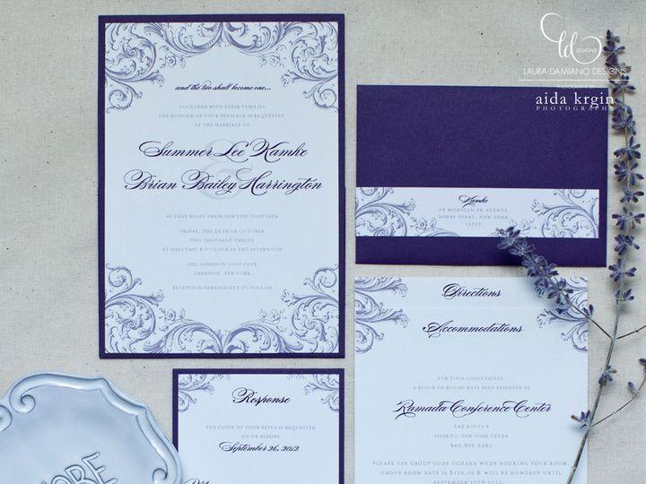 Tmx 1459266478899 Lddkamkeinvitation Briarcliff Manor, New York wedding invitation