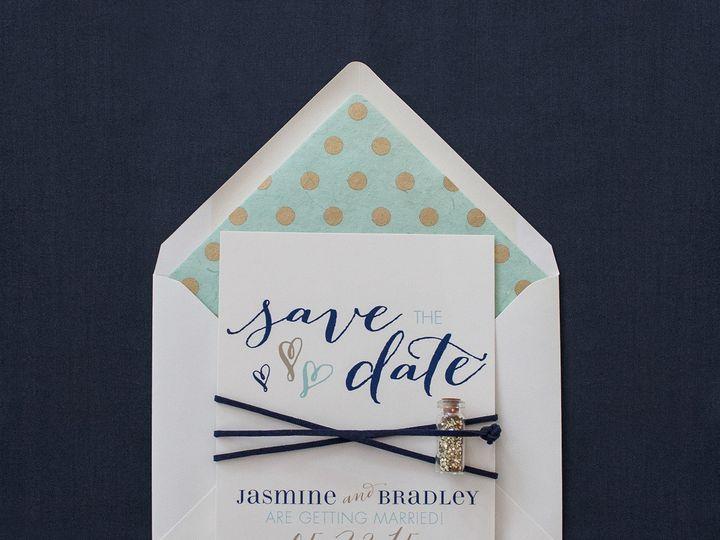 Tmx 1459267395675 Lddjasminebradleysavethedate Briarcliff Manor, New York wedding invitation
