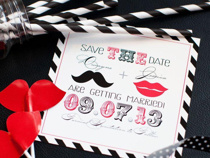 Tmx 1459267406130 Lddjessicadwaynesavethedate Briarcliff Manor, New York wedding invitation
