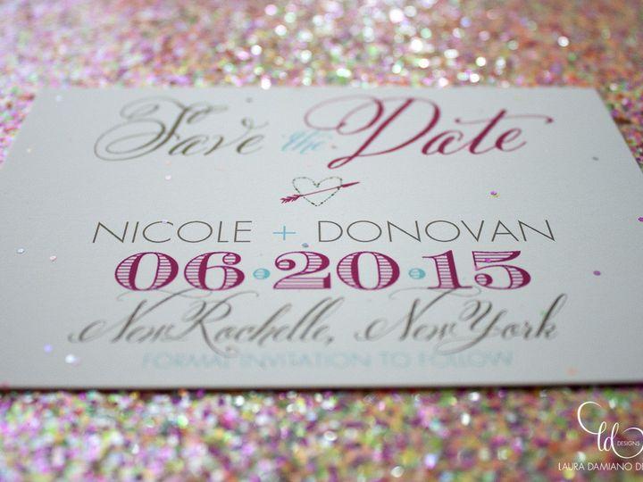 Tmx 1459267431338 Lddnicoledonovansavethedate Briarcliff Manor, New York wedding invitation