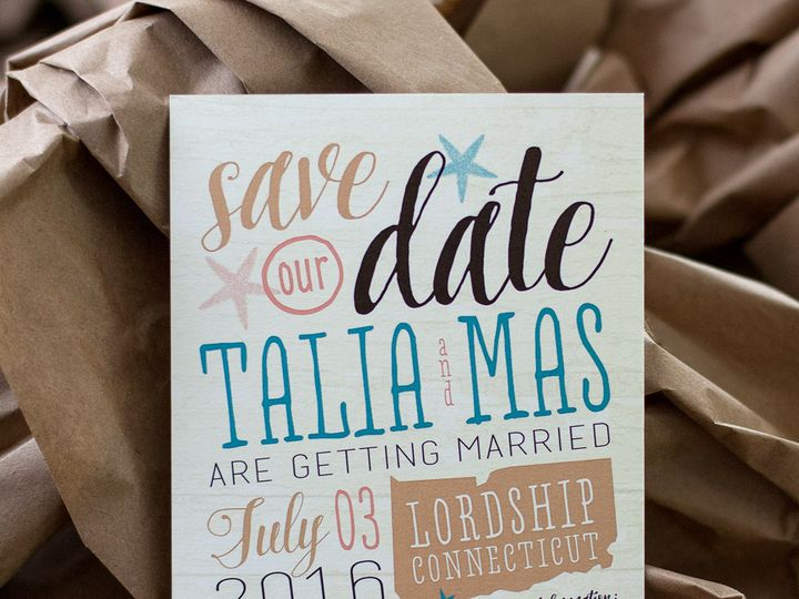 Tmx 1459267438671 Lddtaliamassavethedate Briarcliff Manor, New York wedding invitation
