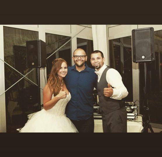 Newlyweds with DJ Aurelio