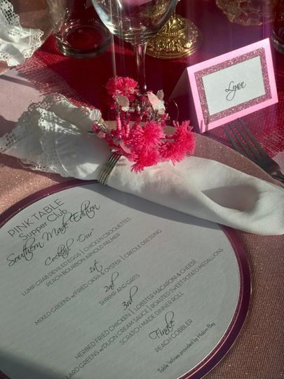 Custom Menu and Place Cards