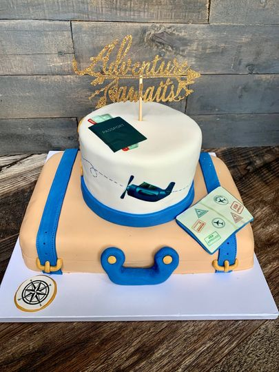 2 Tier Travel Themed Cake