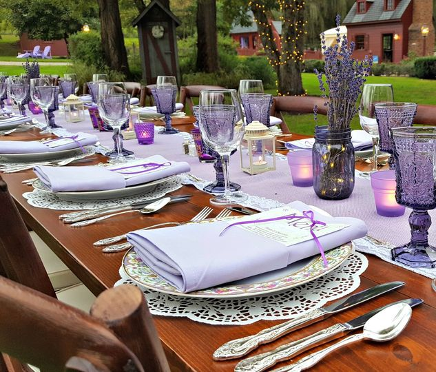 Lavender farm to table dinner