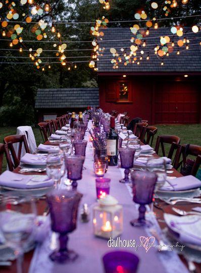 Lavender farm to table dinner