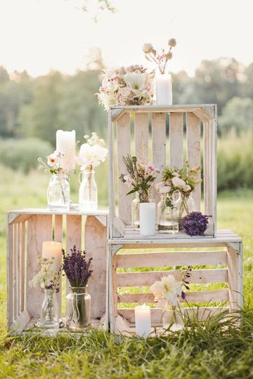 Lavender-themed decor
