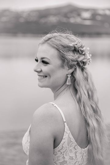 Bride profile black-and-white