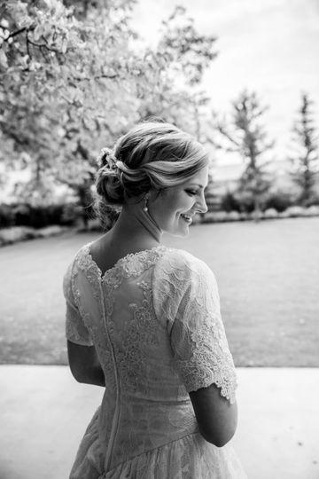Beautiful bridal candid