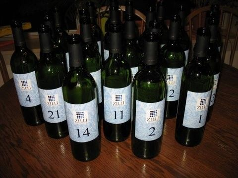 wine table numbers bottles4901019147o
