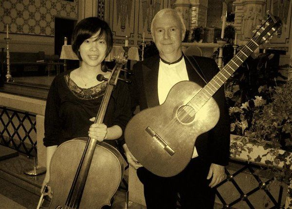 Cello/Guitar duo at Blessed Sacrament Church.