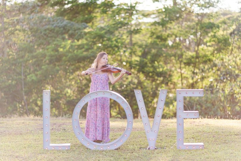 Violinist with Love Prop