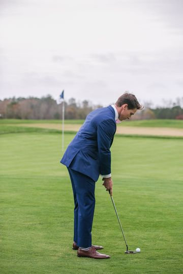 Groom Golfing