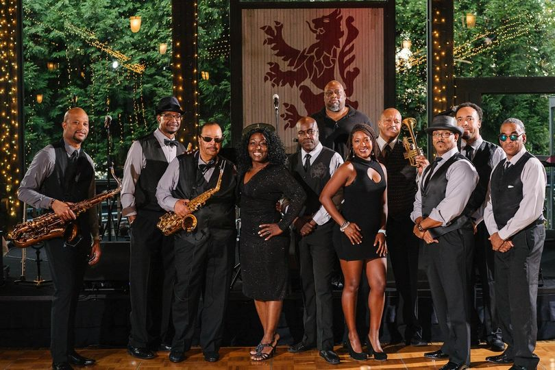 The core band plus horns