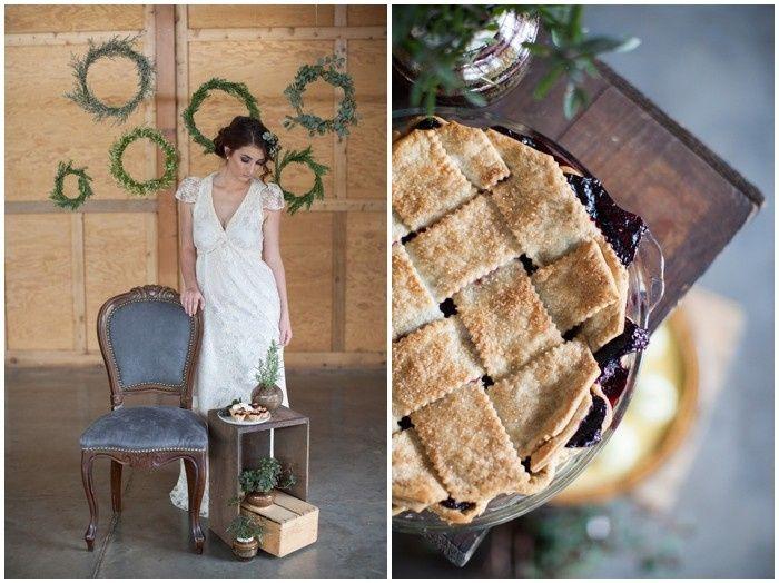 organic wedding details