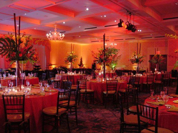 The colors for this event were Burnt Sienna and Sage.  The room was changing between those 2 colors!