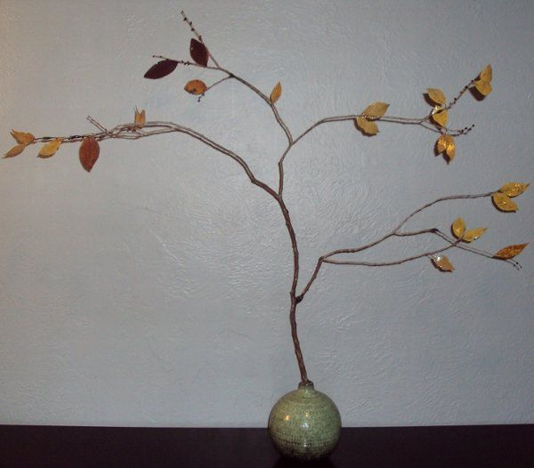 The Forever 'Tree'  32.25 inches tall, 35 inches at widest point, sprouting from a 6.5 inch tall,...