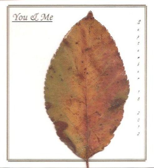 5x4 Personalized Leaf Card - Apple