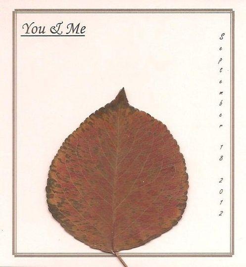 3x4 Personalized Leaf Card - Aspen