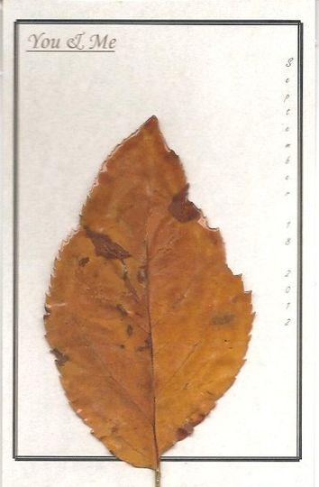 6x4 Personalized Leaf Card - Apple