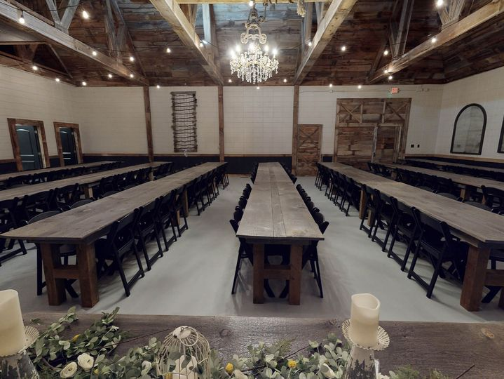 Carriage House set for a ceremony