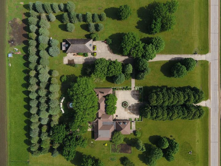 Eagle view of the property