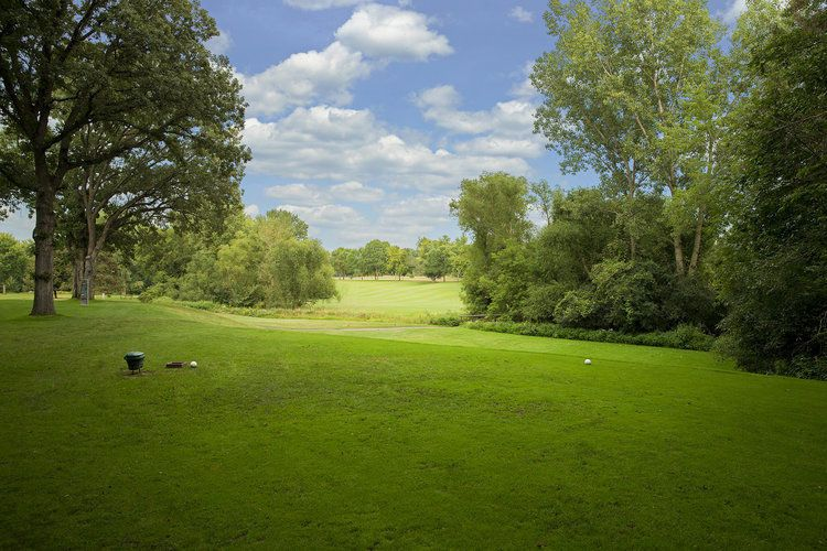 A view of the golf greens