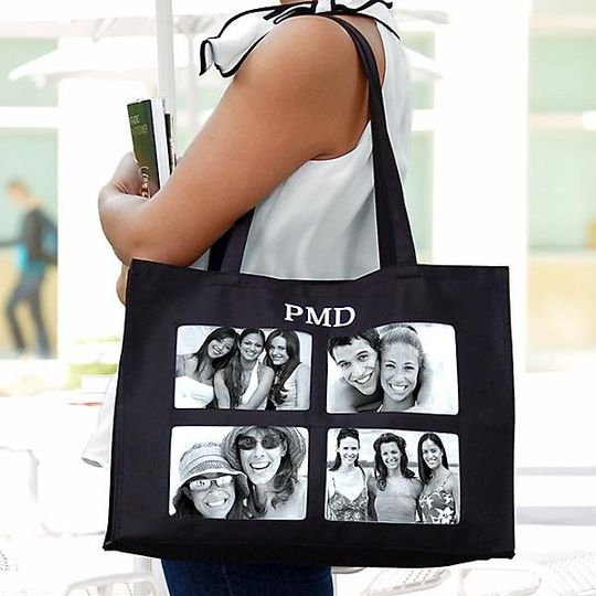 Personalized Photo Tote http://www.marilynskeepsakes.com/bridal-party-gifts/