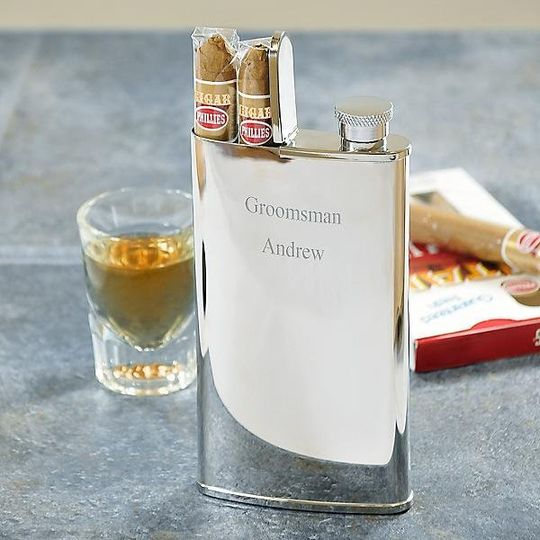 Cigar and Flask Combo http://www.marilynskeepsakes.com/bridal-party-gifts/