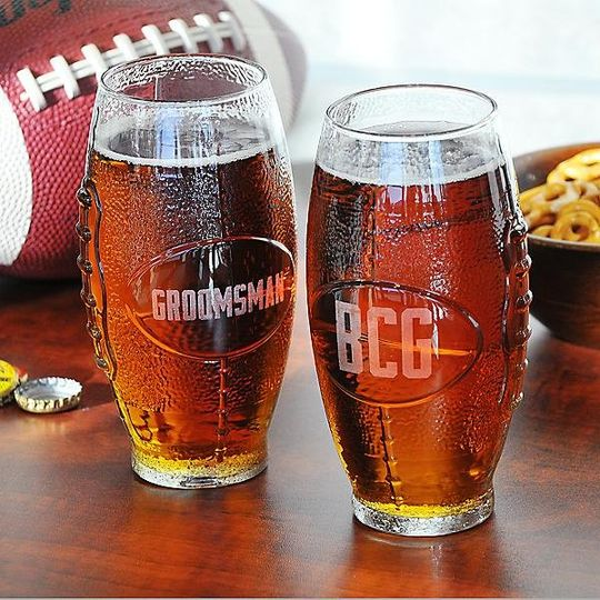 Personalized Football Tumbler http://www.marilynskeepsakes.com/bridal-party-gifts/