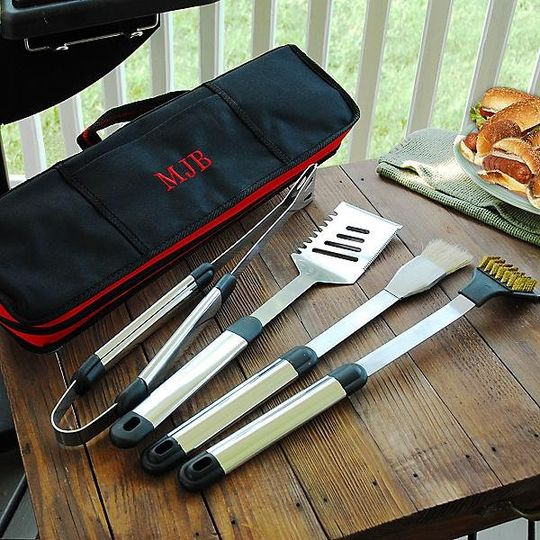 Personalized BBQ Set http://www.marilynskeepsakes.com/bridal-party-gifts/