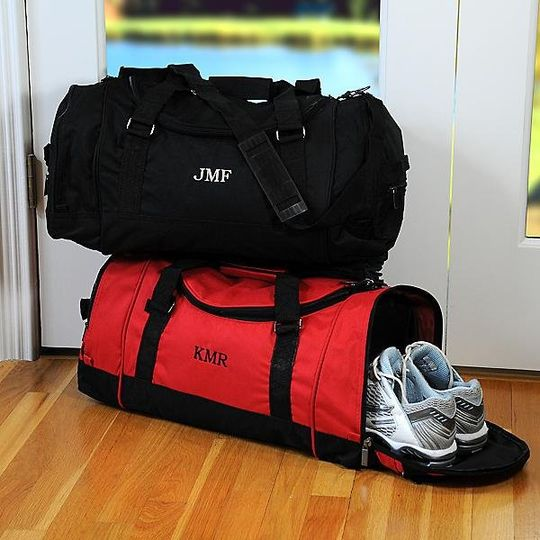 Personalized Sport's Duffle Bag http://www.marilynskeepsakes.com/bridal-party-gifts/