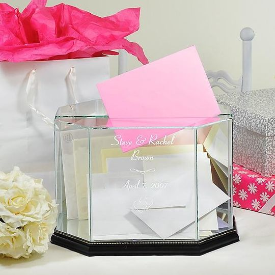 Glass Wedding Card Box http://www.marilynskeepsakes.com/wedding-reception-accessories/