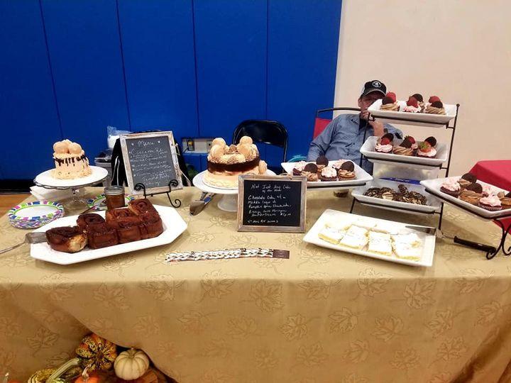 Treats table for a vendor show