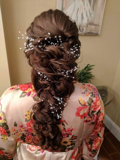 Baby's breath hair braid
