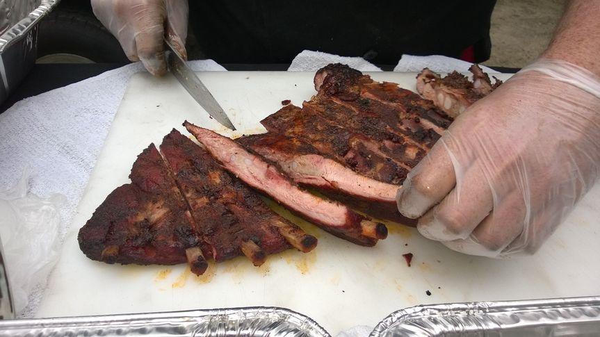 Pit Smoked Pork Spare Ribs