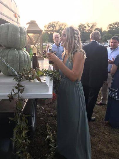 A happy bridesmaid