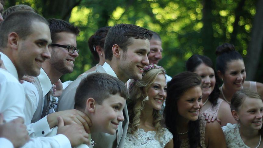 bridal party smile