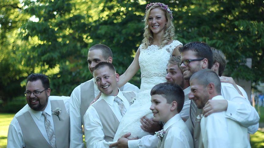 heather with groomsmen
