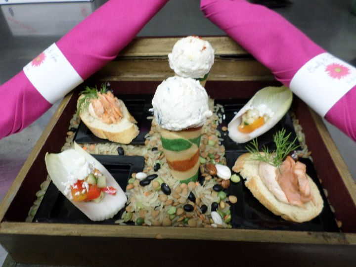 Pre-Dinner Appetizer Sampler for the Bride & Groom