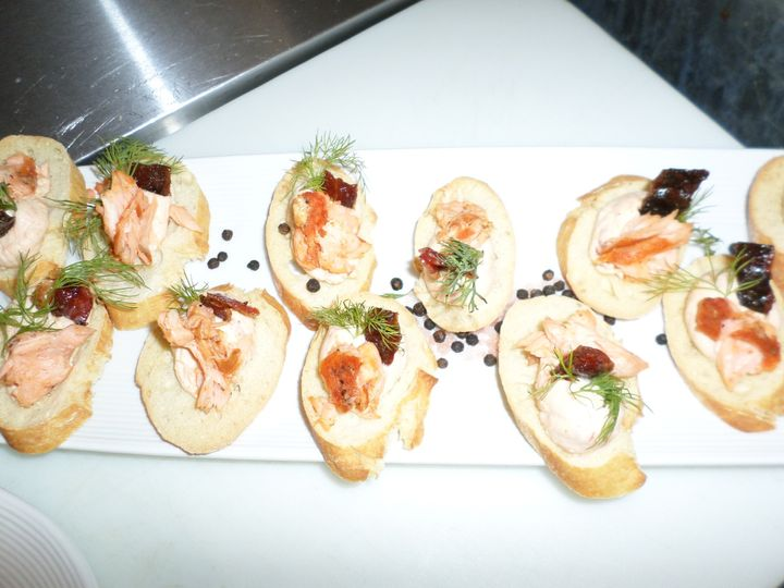 In House Smoked Salmon Canape