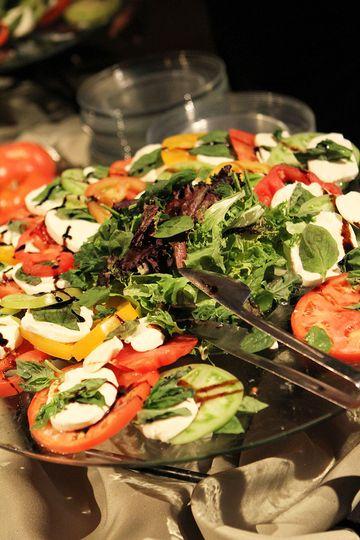 caprese salad display