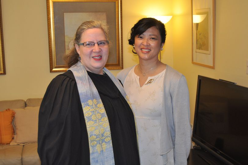 Rev. Julie-Ann and an attendant